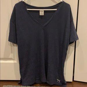 Navy Blue medium PINK VICTORIA'S SECRET t shirt!!